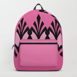 Art Deco Passionate Rose Pink Pattern Backpack