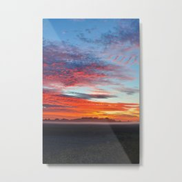 Fog Over The Fields Metal Print