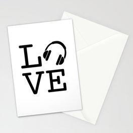 Headphone LOVE Stationery Cards