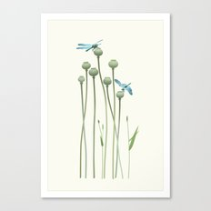 Dragonfly Date Canvas Print