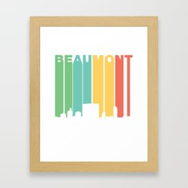 Retro 1970's Style Beaumont Texas Skyline Framed Art Print