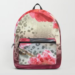 Vibrant Animal Print & Floral Collage Backpack