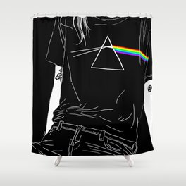 lay back Shower Curtain