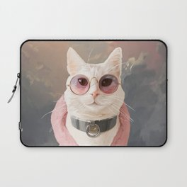 Fashion Portrait Cat Laptop Sleeve