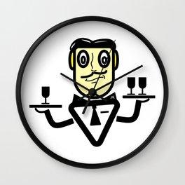 Robot Waiter Wall Clock