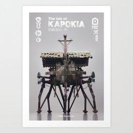 The isle of KAPOKIA : MULTI-LEGGED ROBOT - old type Art Print