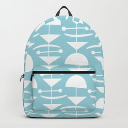 Retro Mid Century Modern Abstract Mobile 676 Blue Backpack