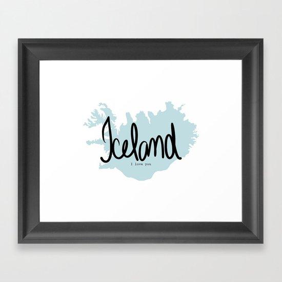 Iceland love Framed Art Print