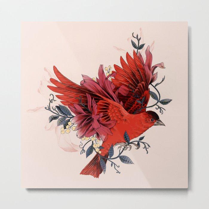 Blooming Bird Metal Print