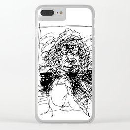 Face The Man On The Bus Clear iPhone Case