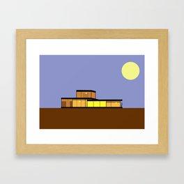 Brown Bauhaus Framed Art Print