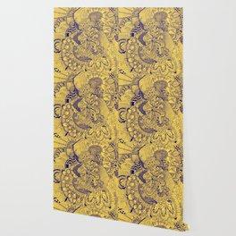 Tangled Mellow Yellow Wallpaper