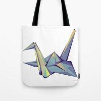 origami Tote Bags featuring Origami by Daniela Castillo