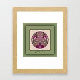 Action Manifestation Mandala No. 4 Framed Art Print