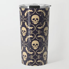 Happy halloween skull pattern Travel Mug