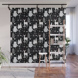 Merry Christmas - Simple X-mas Winter Forest Animals - Mix and Match with Simplicity of Life Wall Mural