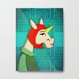 My So Called Unicorn Life Metal Print