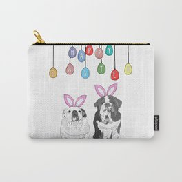 Happy Easter - Bulldog Bunnies Carry-All Pouch
