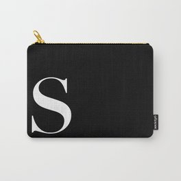 Initial S  Carry-All Pouch