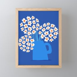 Abstraction_FLORAL_Blossom_001 Framed Mini Art Print