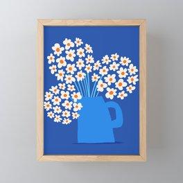 Abstraction_FLORAL_Blossom_001 Framed Mini Art Print