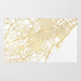 BARCELONA SPAIN CITY STREET MAP ART Rug