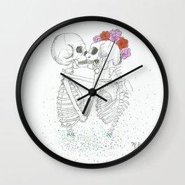 Rhythm In Your Bones by Maria Piedra Wall Clock