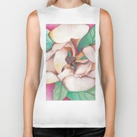 magnolia Biker Tanks featuring Magnolia by Emily Michele Berry