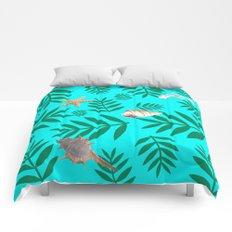 leaf coral Comforters