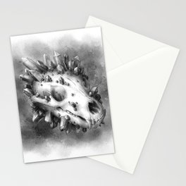 Bear Skull and Crystals Stationery Cards