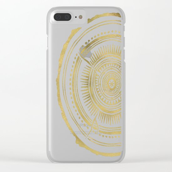 Quaking Aspen – Gold Tree Rings Clear iPhone Case
