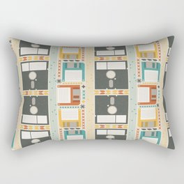 Retro Computer Floppy Disc Pattern Rectangular Pillow