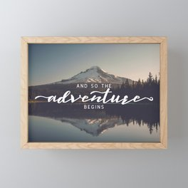 Trillium Adventure Begins - Nature Photography Framed Mini Art Print