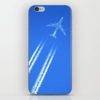 airplane iPhone & iPod Skins featuring Airplane by Uldis Ķēniņš