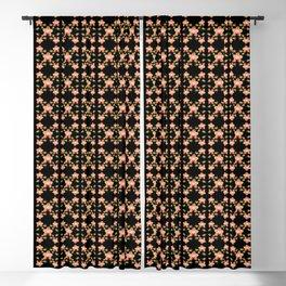 Magenta Peach Phalaenopsis Orchid Pattern Blackout Curtain