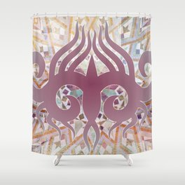 Mosaik Ornaments Collage Shower Curtain