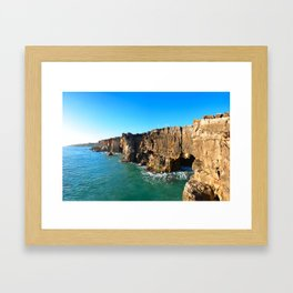 Cascais Rocks Framed Art Print