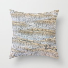 Sliced Bark Throw Pillow