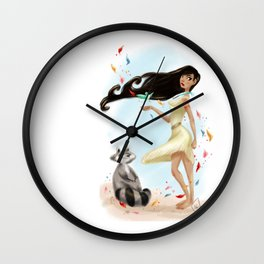 Paint with all the colors of the wind Wall Clock