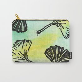 Ginkgo Biloba block print Carry-All Pouch