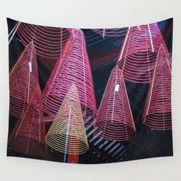 RED SPIRALS - Vietnam - Asia Wall Tapestry