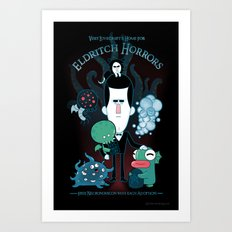 Lovecraft's Home for Eldritch Horrors Art Print