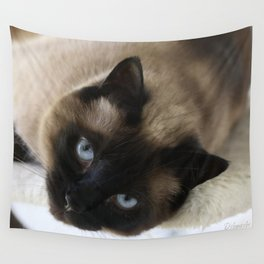 Siamese Soulful Expression Wall Tapestry