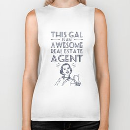 this gal is an awesome real estate agent wife t-shirts Biker Tank
