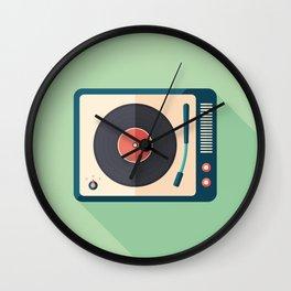 Vinyl Player Wall Clock