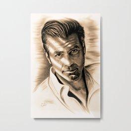 George Clooney II Metal Print