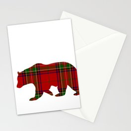 Mama Bear Red Plaid for Mom Mommy or Mother Stationery Cards
