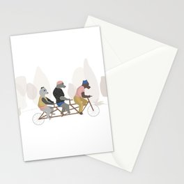 Bears in spring Stationery Cards