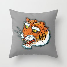 Bengal Tiger Angry Throw Pillow