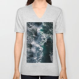 Crashing ocean waves - Ireland's seascapes at sunset Unisex V-Neck